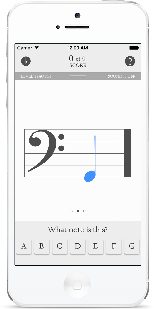 Music flashcards, Eight simble